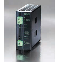 Eco-Rail multi-functional power supply has a slim metal housing and IP20 pluggable screw terminals.