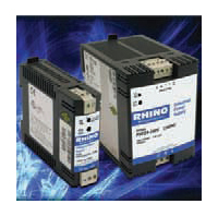 Rhino PSP line of power supplies include DC-DC converters with inputs 9.5–18 Vdc and 18–75 Vdc.