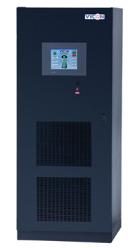 VDC and VDC-XE direct connect DC power system for UPS applications use flywheel technology to provide up to 220 kW, while the VDC-XE model supplies up to 300 kW in a single cabinet