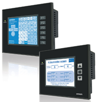 NP-Series HMIs connect to multiple-vendor PLCs and combine a touchscreen with programmable function keys.