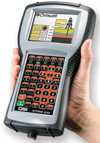 QTERM-G58 wireless, battery powered, mobile industrial HMI is a handheld computer using a 200 MHz processor and a transflective color TFT display.
