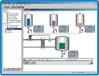 Wago-I/O Pro CAA programming and visualization software for development of PLC applications for this company's Programmable Fieldbus Controllers is IEC 61131-3-compliant and includes an integrated HMI editor, to dveleop the control application and the HMI screens within the same environment using one common tag database.