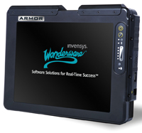 Tablets for mobile HMI users where operators or maintenance personnel need mobility, real-time graphics, system monitoring, interaction and troubleshooting come pre-installed with Windows XP, InTouch 10.0 software and 3000 Tag Runtime license.