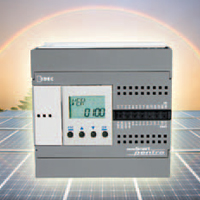 The 12 Vdc MicroSmart Pentra uses a traditional brick design with 10, 16 or 24 built-in I/Os.