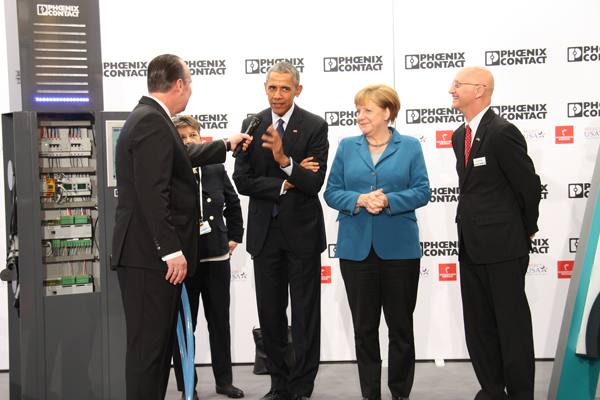Phoenix Contact CEO meets with U.S. President Barack Obama and German Chancellor Angela Merkel