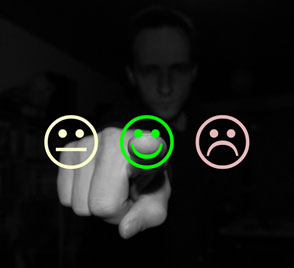 customer online feedback smiley nav
